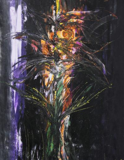 Mya Lurgo, La vie en Rose - Omaggio a R+C, tecnica mista su tela, 80x120 cm, 2002