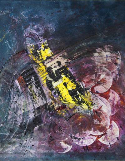 Mya Lurgo, Le circostanze (dettaglio), tecnica mista su tela, 80x90 cm, 2004