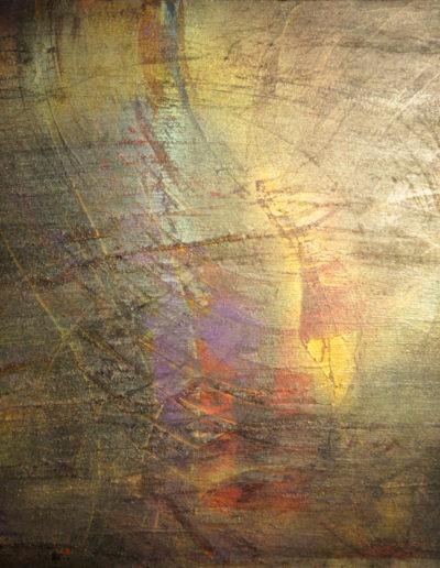 Mya Lurgo, Intrecci e Circo-Stanze, tecnica mista su tela, 1998