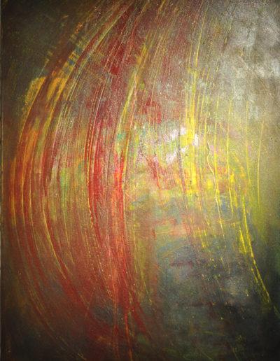 Mya Lurgo, Come un battito d'ali, tecnica mista su tela, 50x70 cm, 1999