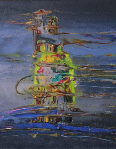 Mya Lurgo, OlosPeak - Alterazioni di Frequenza (dettaglio), tecnica mista su tela, 100x70 cm, 2006