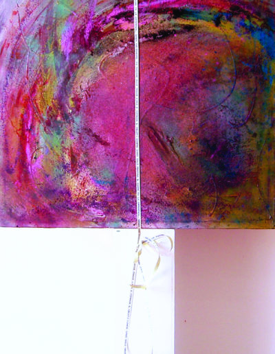 Mya Lurgo, Chi può dire dove finisce l'aria e comincia il Cielo?, installazione, mixed media, 2005