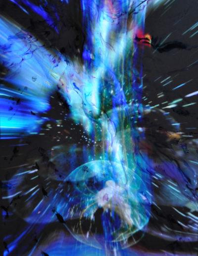 Mya Lurgo, Butterfly Effect, installazione, digital art proiettata su tela, 80x60x4 cm, 2012