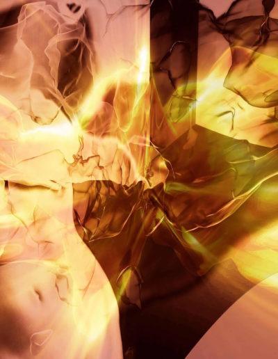 Mya Lurgo, Enegie Astrali com-muovono il corpo di pensiero, digital art, 2012