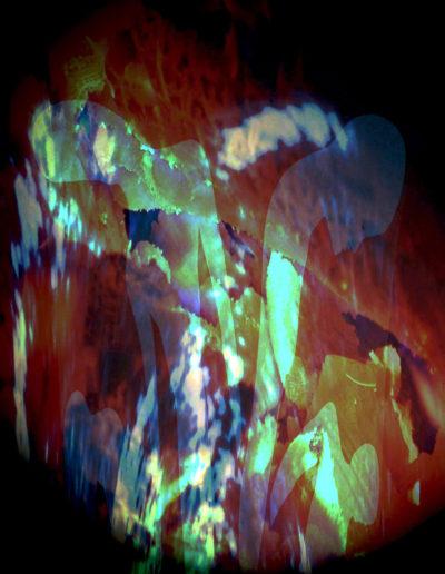 Mya Lurgo, REWIND ritorno al Mittente, ecografia elaborata digitalmente, stampa su plexiglass, 100x100 cm, 2010