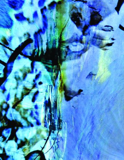 Mya Lurgo, Una luce prenderò per te la fuori, arte digitale, tecnica mista su tela, 114x180x4,5 cm, 2010