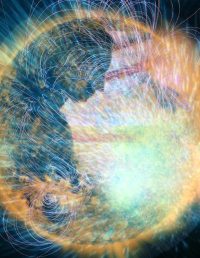 Mya Lurgo, Tessendo il sogno Bolla, digital art, 2009