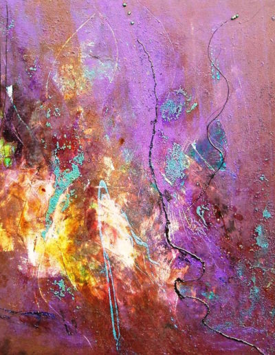 Mya Lurgo, Le tre Volontà, tecnica mista su tela, 2006