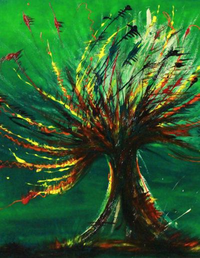 Mya Lurgo, Albero della vita bonsai, olio su tela, 1996