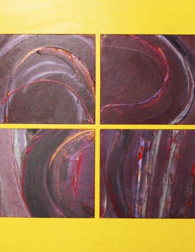 Mya Lurgo, Circostanze acentriche elevate, tecnica mista su tela, 2005