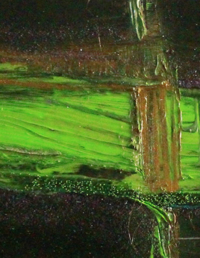 Mya Lurgo, Vicoli Verticali, tecnica mista su tela