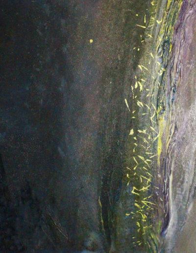 Mya Lurgo, Vicoli Verticali, tecnica mista su tela, 50x50 cm, 1998